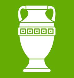 ancient jug icon green vector image