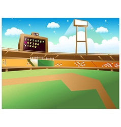 Baseball Field Background vector image