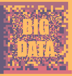 big data concept colorful background vector image vector image