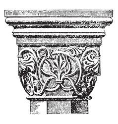 Capital definite vintage engraving vector
