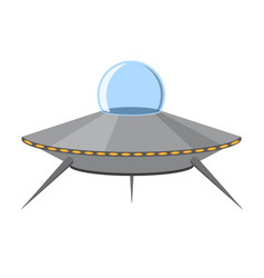 cartoon ufo isolated on white background vector image vector image