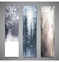 Christmas Banners Set 2 vector image