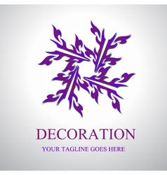 Decoration Logo vector image vector image