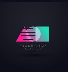 Elegant geometric shape logo concept design vector