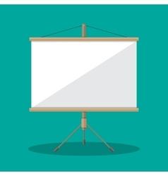 Empty Projection screen Presentation board vector image