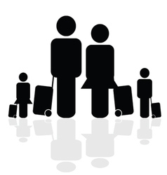 Family travel icon vector