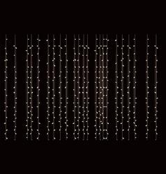 Hanging christmas sparkling lightbulbs overhead vector