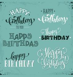 happy birthday phrases vector image