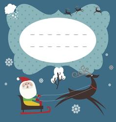 Holiday card with santa claus vector