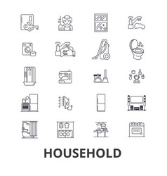 household equipment cleaning home house vector image
