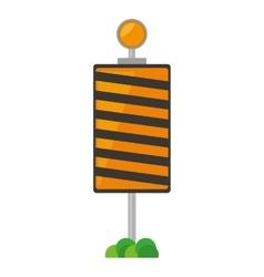 Roadblock traffic light warning with grass vector