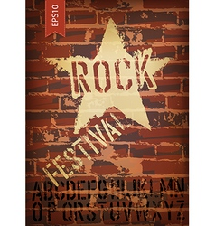 Rock festival template vector