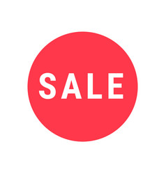 sale circle sign simple icon for sale or shopping vector image vector image