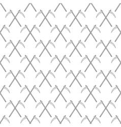 Scythe seamless pattern vector