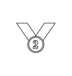 second place icon vector image vector image