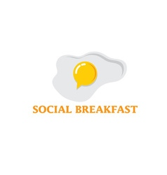 social breakfast with fried eggs design template vector image vector image
