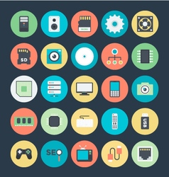 Technology and Hardware Colored Icons 1 vector image