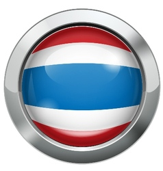 Thailand flag metal button vector