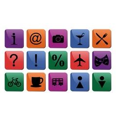 Tourist travel icon set vector