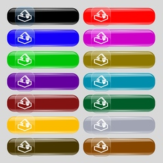 Upload icon sign Set from fourteen multi-colored vector image vector image