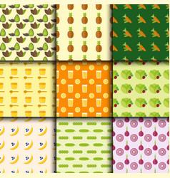 Vegan food nature seamless pattern restaurant vector