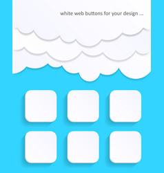 White blank web buttons vector
