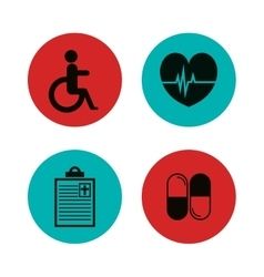 Set medical healthcare icons vector