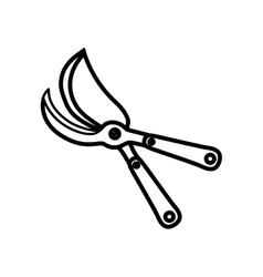 Shears gardening tool vector