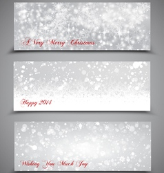 Christmas banners set 3 vector