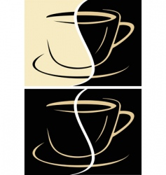 Cup of coffee latte vector
