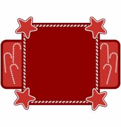 candy cane frame vector image