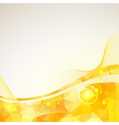 Abstract triangles lines pattern yellow frame vector image