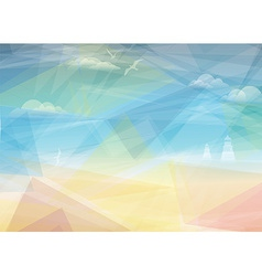 Beautiful seaside view poster background vector image