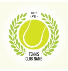 Tennis ball logo vector image