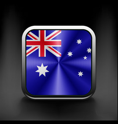 Australia flag national travel icon country symbol vector