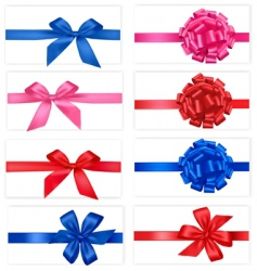 set with color bows vector image