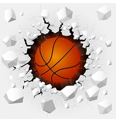 Basketball and with wall damage vector