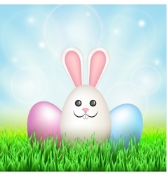 Easter eggs rabbit vector image