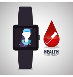 Health care design technology icon isolated vector