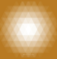 Abstract light brown triangle background vector