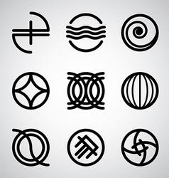 Abstract symbols set vector