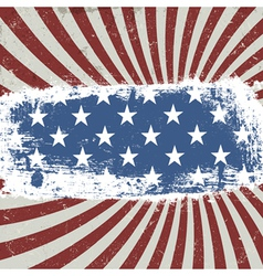 american patriotic rays background vector image vector image