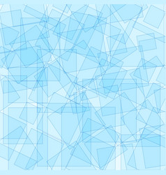Background design with square shapes in blue vector