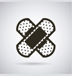 band aid icon vector image