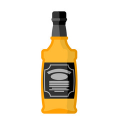 Bottle of whiskey bourbon isolated tequila on vector