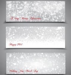 Christmas Banners Set 3 vector image vector image
