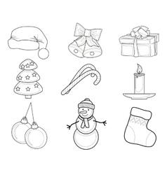 Christmas Set of characters vector image