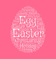 easter egg greeting card with word cloud vector image