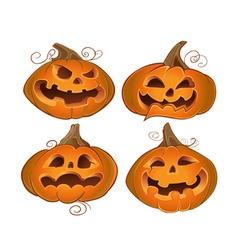 Fun Halloween pumpkins vector image vector image