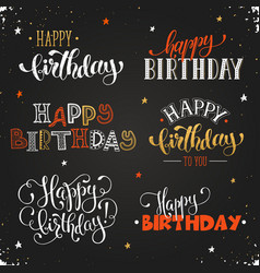 Happy birthday phrases vector